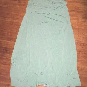 2x green wave LuLaRoe Maxi Skirt
